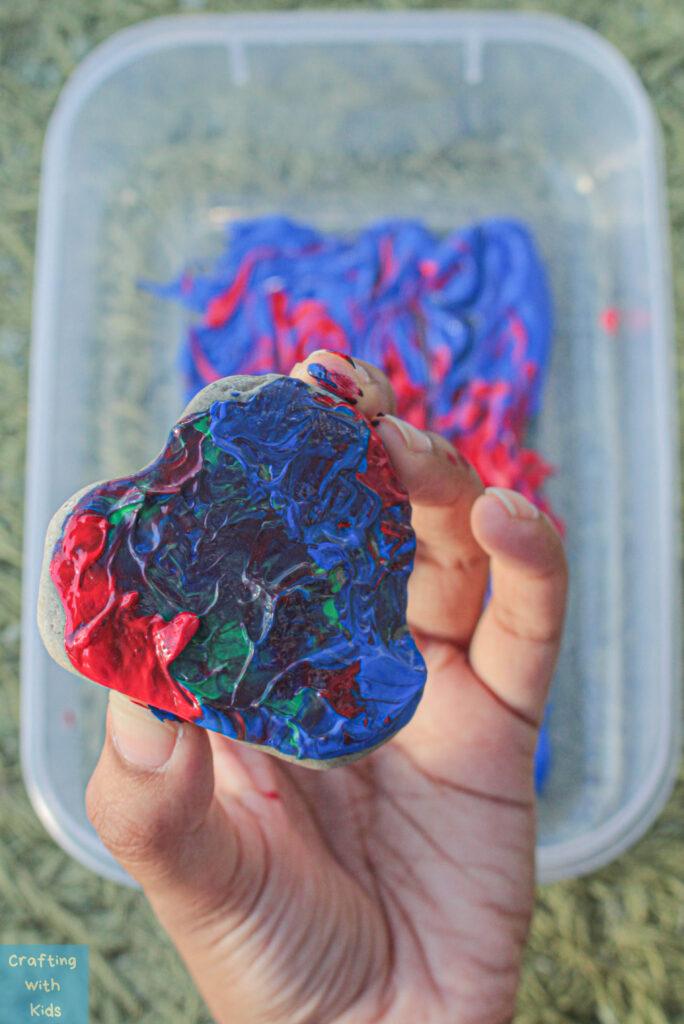 rock dip painting technique