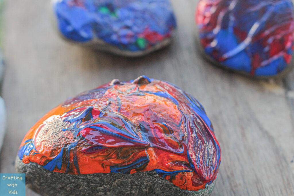 dip paint technique for rock painting