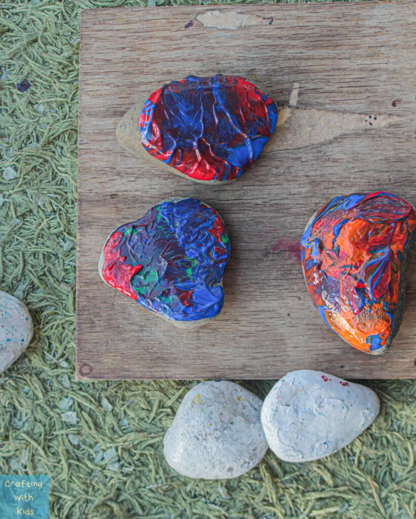 rock painting with dip paint technique