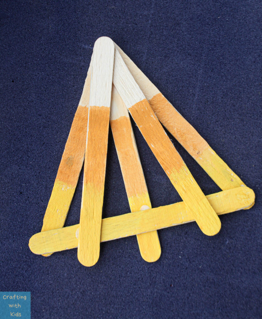 candy corn popsicle stick fall craft