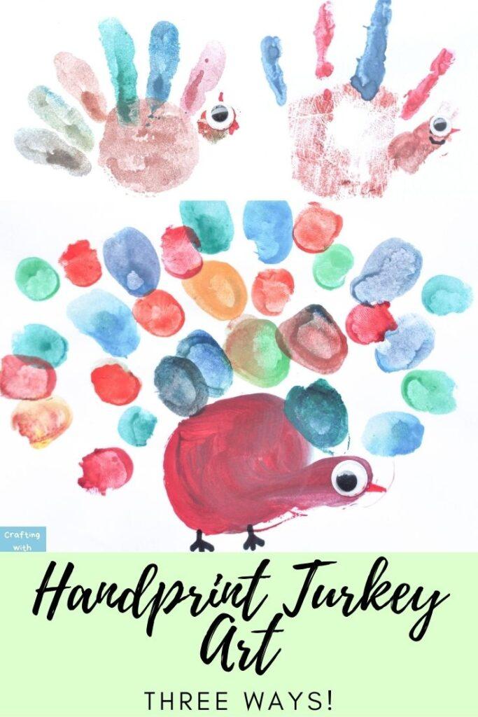 Turkey handprint art