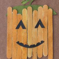 popsicle stick pumpkin