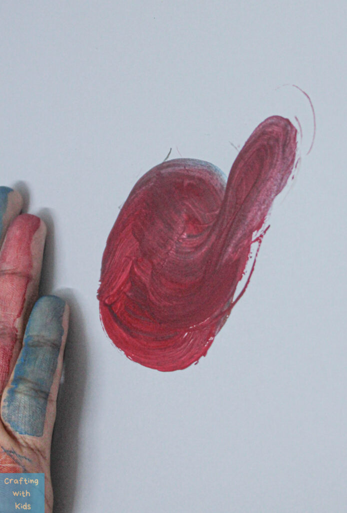 creating thumbprint Turkey art