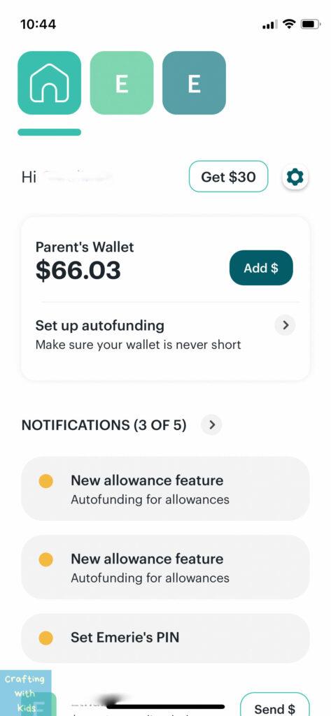 Greenlight debit card App