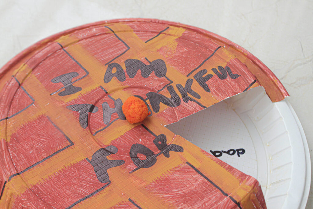 'I am thankful for' Thanksgiving kids craft