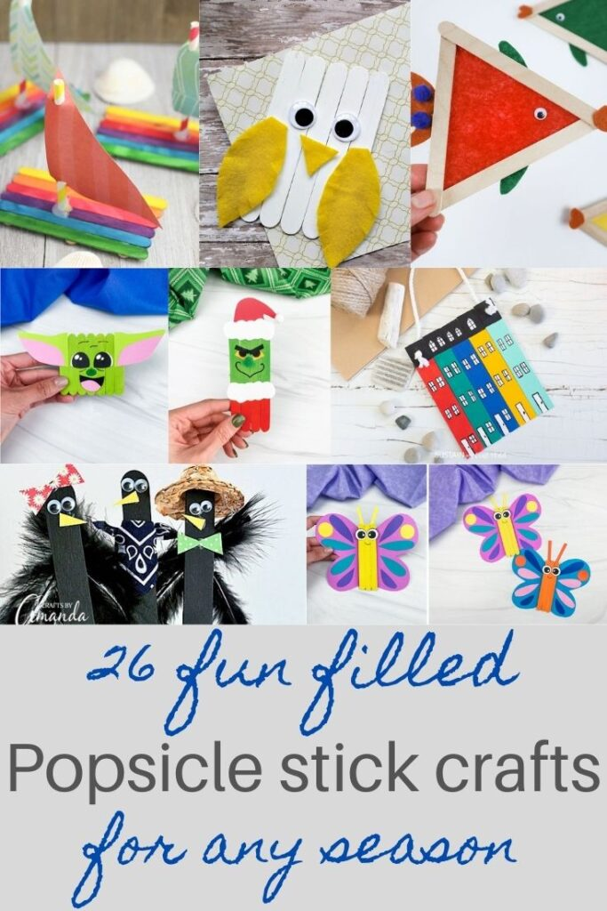 popsicle stick crafts for kids for any season