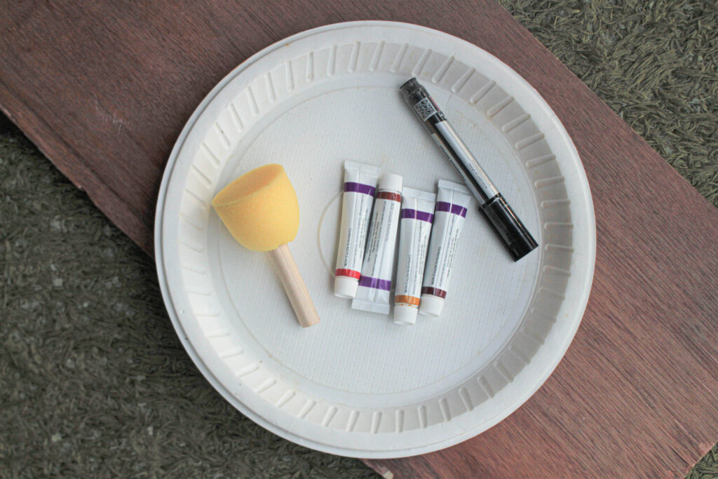 supplies for paper plate craft for Thanksgiving