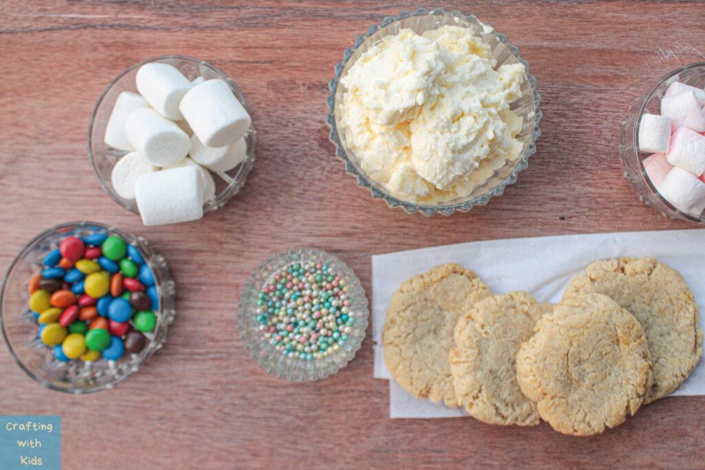 melting snowman cookie ingredients